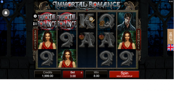 Celebrate with Immortal Romance Slot by Microgaming