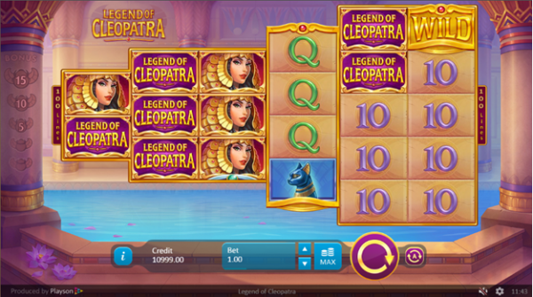 Legend of Cleopatra slot is created by Playson