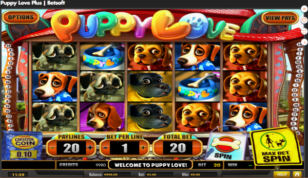 Puppy Love Plys Slot Betsoft