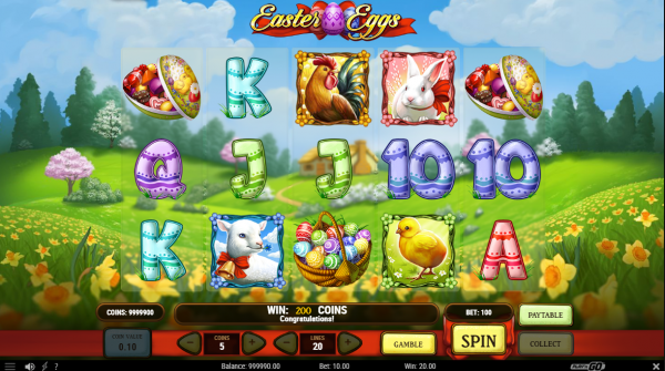 Easter Eggs slot developed by Play N Go